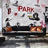 murando - Fototapete 400x280 cm - Vlies Tapete - Moderne Wanddeko - Design Tapete - Wandtapete - Wand Dekoration - Banksy Graffiti Mural i-A-0107-a-c