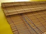 Bambusrollo Bambus Raffrollo Natur Breite 60 - 140 cm Länge 160 und 240 cm Seitenzug Fenster Tür Rollos Holzrollo (90 x 240 cm)
