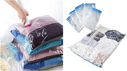 Glitter Collection Vacuum Jumbo Vacuum Space Saver Storage Bags. [Bonus] Travel Vacuum Hand Pump. Jumbo Size, Excellent for Long Term Storage or Saving Extra Space While Travelling VCBAG01