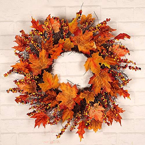 Thanksgiving Dekorativen Kranz New Künstliche Ahornblätter Ernte