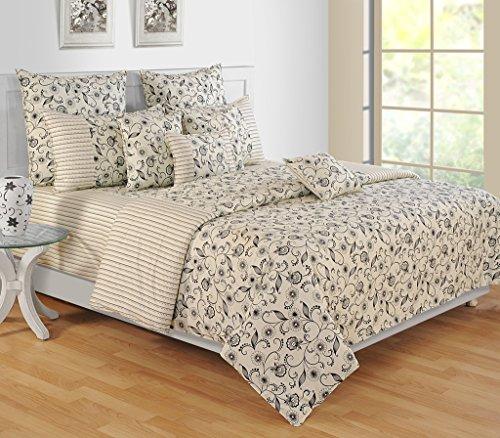 Yuga 8 Stück im Beutel gesetzt Lvory bedruckten Baumwollmaterial Tröster Bettwäsche-Set Bett -