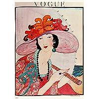 Vintage Vogue Helen Dryden Hat Poster Art Print preiswert