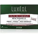 Luxéol - Chute de Cheveux (1) Réactionnelle 3 mois – Stress (2), Fatigue (3), Post-Grossesse (3) – Complément Alimentaire – 9
