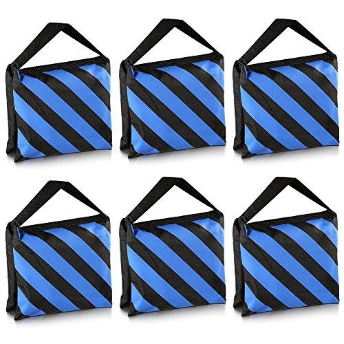 Neewer® 6Pack negro/azul arena bolsa fotografía estudio vídeo etapa película bolsa alforja para luz Stands Boom brazos trípodes