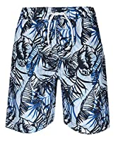 Cargo Bay Boys Printed Bermuda Swim Shorts Navy 3-4 Years