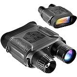 Vision nocturne binoculaire, vision nocturne numérique infrarouge - 640x480p HD Caméra photo et caméscope HD IR Voir clairement jusqu'à 400m / 1300ft, 7x grossissement dans l'obscurité, grand écran de
