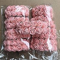 PURATEN Mini Blumenstrauß Rose Schaum Blumen Künstliche Blume DIY Hochzeit Party Home Decor, Hautfarben, 0.98inch