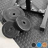 TecTake 12 x Bodenschutz Matte Schutzmatten Set Fitness Unterlegmatte EVA-Schaum | Maße pro Matte: ca. 63×63 cm - 3