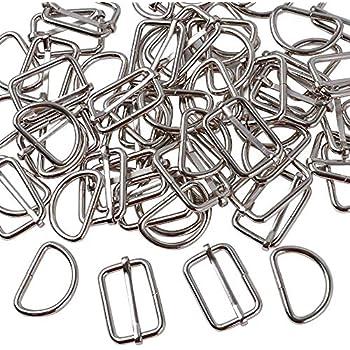 20/pcs 2,5/cm 25/mm pivotant Clips Crochets Snap D/éclencheur Cordon D Bague Boucles Craft en m/étal Nickel