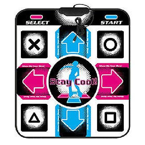GEZICHTA Tanzmatte, USB-Anti-Rutsch-Leuchte Tanzmatte Arcade-Stil Tanzspiele mit eingebauten Musikstücken PC-Tanzdecke