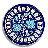 #5: Aurea Blue Pottery Decorative Wall Plate (6
