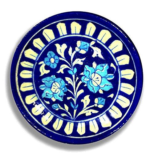 Aurea Blue Pottery Decorative Wall Plate (6