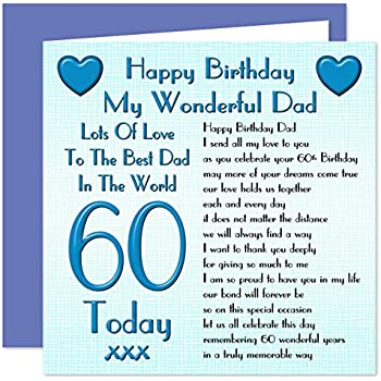Dad 60th Happy Birthday Card - Lots Of Love To The Best ... Happy 60th Birthday Dad