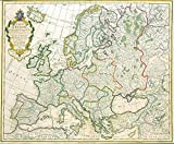 """Jean Claude Dezauche Carte d'europe Vintage Fine Art Print, Up to 594mm by 841mm Or 23.4"""" by 33.1"""""""
