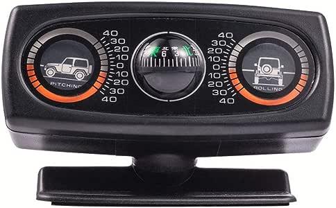 seraphicar Decorazione per Auto Inclinometro Bussola Decorazione Accessori Inclinazione Livello Strumento Onda Strumento Auto Universale