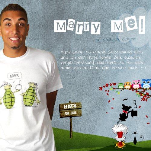 Marry Me! - Herren T-Shirt von Kater Likoli Weiß