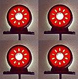4 x 24 V LED drehbar Seite Begrenzungsleuchten Anhänger Wohnwagen Wohnwagen