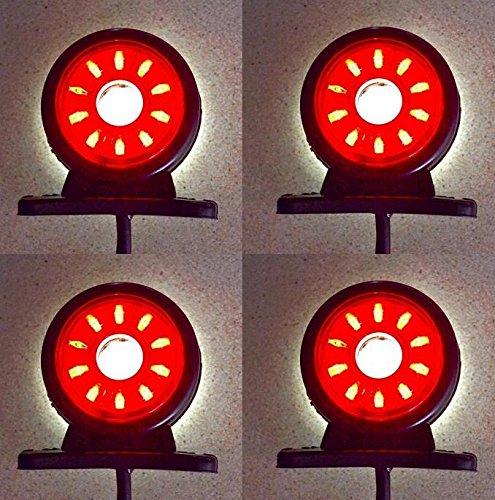 4 x 24 V LED drehbar Seite Begrenzungsleuchten Anhänger Wohnwagen Wohnwagen - Led-marker Anhänger