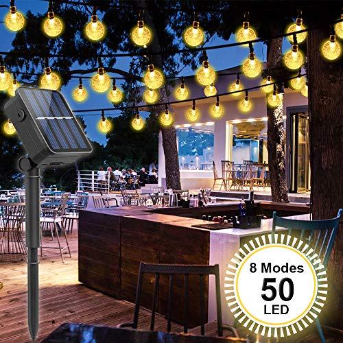Solar Lichterkette Außen, LED Solar Lichterkette,SYOSIN Wasserdichte dekorative Außenleuchte mit 8...