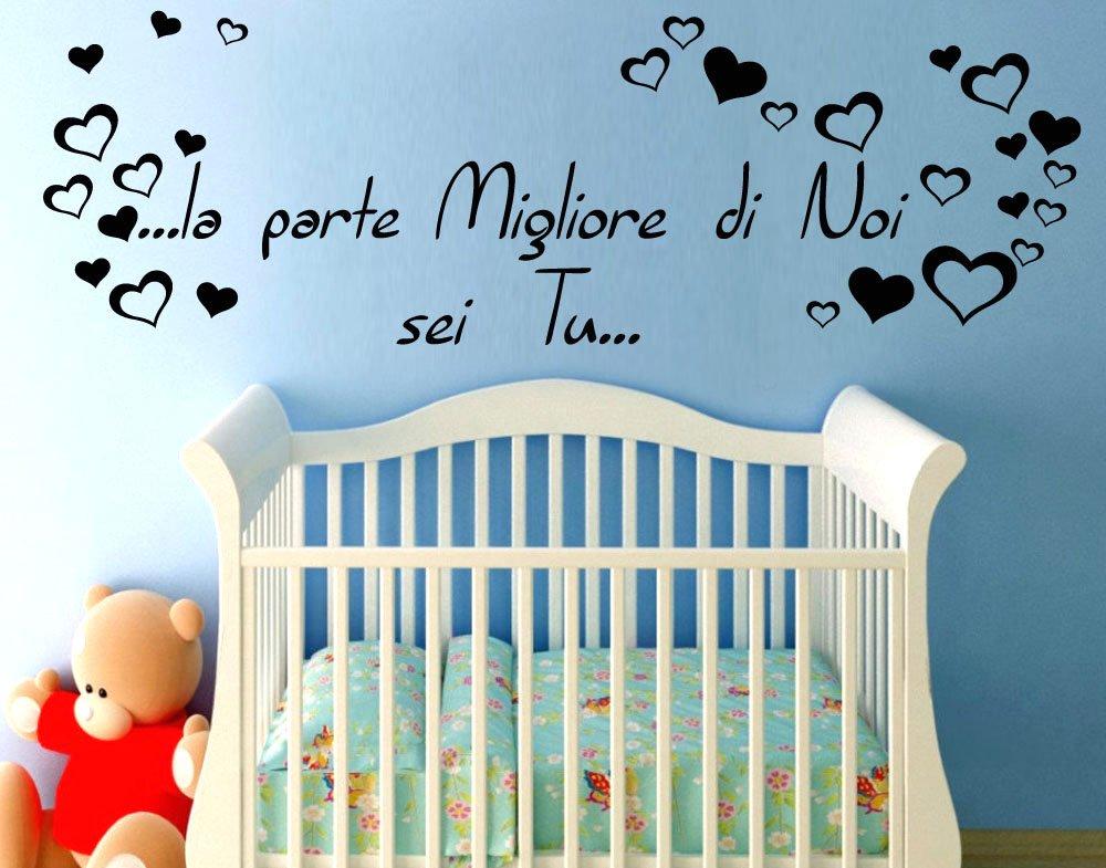 Favoloso Adesivo Murale Wall Stickers Frase Citazione Dedica Figli Amore la  DZ01
