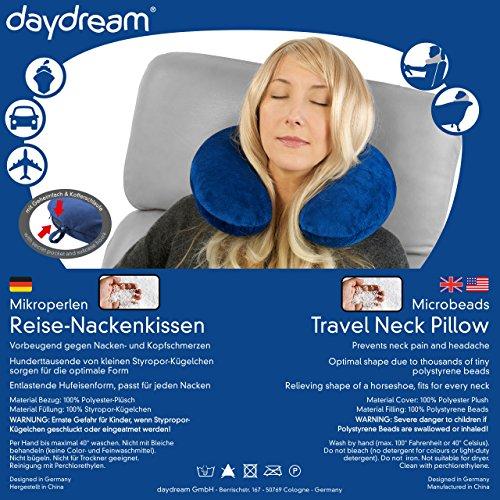 daydream Reise-Nackenkissen (mit Mikroperlen), blau - 4