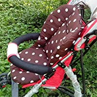 yuver (TM)–Spessore Dot Stampa Passeggino Cuscino Bambino Carrello Sedile Cotone Spessore Tappetino Passeggino accessori per auto pad