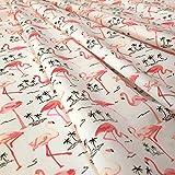 Flamingo Vogel bedruckt 100% Baumwolle Popeline mit
