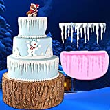 fondant cake Ribbon Mold, Lace fondant cake Molds Frozen silicone Mold Ice and Ice curling Ice cake Decorating Tool Mold di Aixin