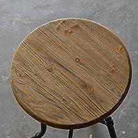 Ferro battuto bar tavolo e sedie in legno massiccio tavolino