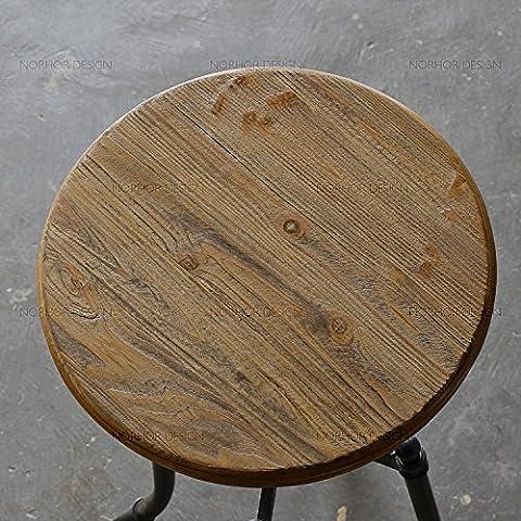 Bar en fer forgé, table et chaises en bois massif