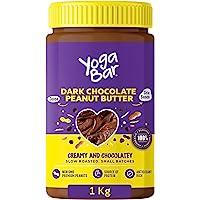 Yogabar Dark Chocolate Peanut Butter| Creamy & Chocolatey | Slow Roasted | Non-GMO Premium Peanuts | 1kg