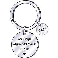 Portachiavi papà da figlia figlio regalo gioielli papà regalo festa del papà regalo di compleanno