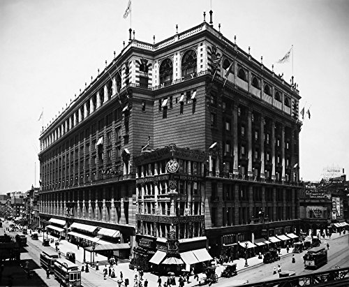 The Poster Corp New York: Macy'S 1908. /Nmacy'S Department Store Herald Square New York City. Photographed In 1908. Kunstdruck (45,72 x 60,96 cm)