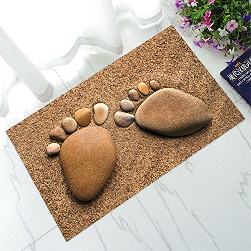 Paillasson antidérapant Tapis Tapis 3d Original Conception Pied pierres fine de 40 x 60 cm de Open Buy