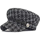 Sombreros Planos Invierno para Mujer, Sombrero Visera Invierno para Mujer, Gorra Vendedor de Periódicos para Mujer, Elegantes