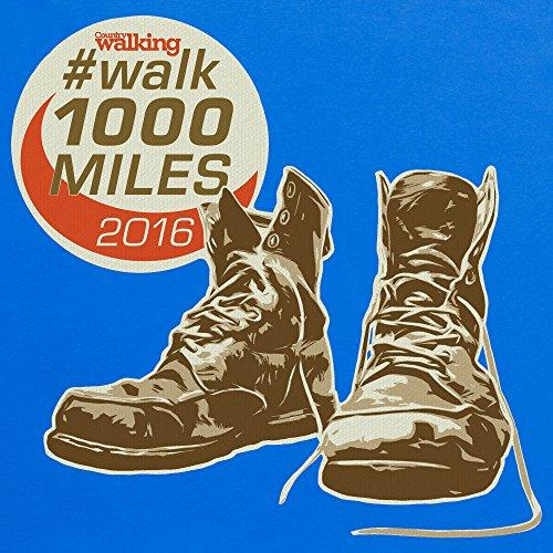 Walk 1000 Miles 2016 Boots T-Shirt, Herren Royalblau