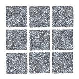 Fliesen Mosaik Küche Bad WC Wohnbereich Fliesenspiegel 1 Karton 50St Marmor Boden Schwarz matt 10mm#825