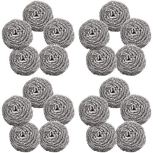 Topfreiniger,BESTZY 20 Stück Topfreiniger Edelstahl Scheuerspirale Sauber für Küche Reinigung Werkzeuge (Saubere Küche)