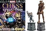 Colección Ajedrez Marvel Comics Marvel Chess Collection Edición Doble Groot & Rocket Racoon