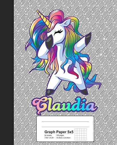 533 Quad (Graph Paper 5x5: CLAUDIA Unicorn Rainbow Notebook (Weezag Graph Paper 5x5 Notebook, Band 533))