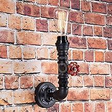 Steampunk-Lampada da parete Vintage in metallo, colore: