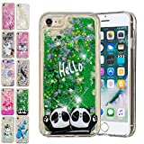 E-Mandala Coque Apple iPhone 6S Plus 6 Plus Paillette Liquide Brillante Deux Pandas...