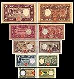 *** 50 - 1000 Lire Serie -1933 - 1943 - italienische Lire - 5 alte Banknoten - alte italienische Währung - Reproduktion ***