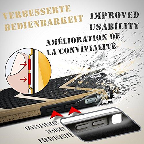 iPhone 7 Hülle OneFlow [Glory Case] Silikon Soft TPU Schutzhülle Back Cover [Erweiterter Kantenschutz] Bumper Handyhülle - Gold HONOR