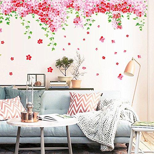 wallpark-hermoso-rojo-cereza-florecimiento-flores-verde-hojas-vid-mariposas-desmontable-pegatinas-de