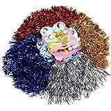 Schramm® 4 pièces (2x2) Pom Poms Pom Pom Pom Dance Wand Baguette de Pom-Pom Girl Puschel Dance Wand