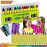 Pintura Facial, Buluri 16 Colores Face Paint Crayons Conjuntos de...