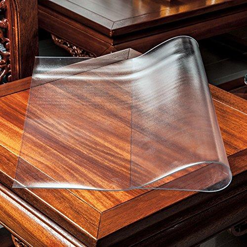 XKQWAN PVC Transparente tischdecke Wasserdicht Quadratische Quadratische tischdecke Kunststoff tischdecken Nachttisch Kristallplattenmatte Untersetzer-B 24 * 24in (Durchsichtigen Quadratisch Kunststoff-platten)