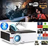 CAIWEI HD Projector 5000 Lumens Android WiFi Multimedia Home Theater High Definition Digital 1280X800 HD Support 1080p 16:9 4:3 200