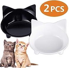 Futternapf 2 Stück, ENJOY PET Fressnapf Wassernapf Katzennapf Hundenapf NAPF mit Silikonpads Rutschfest Schüssel Futterspender für Katze und kleine Hunde
